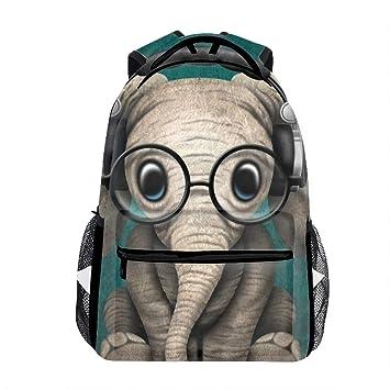 reputable site 6e613 2bfb8 Amazon.com   Student Backpack School Bag Lovely Elephant Print Backpack    Kids  Backpacks