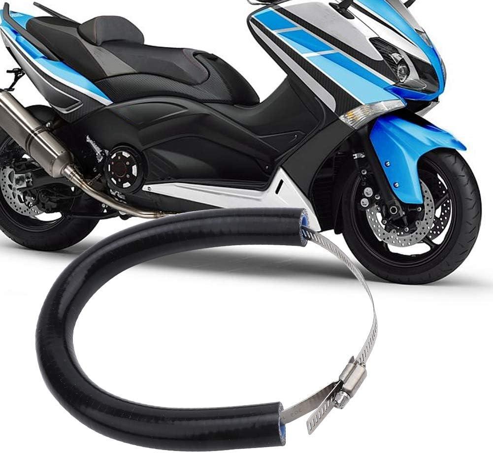 Motorrad Auspuffrohr Abdeckung Anti-Falling Rod Ring-Schutz Abdeckungs Schutz Anti-Hot Auspuff Schutz Black Auspuff Schutzabdeckung