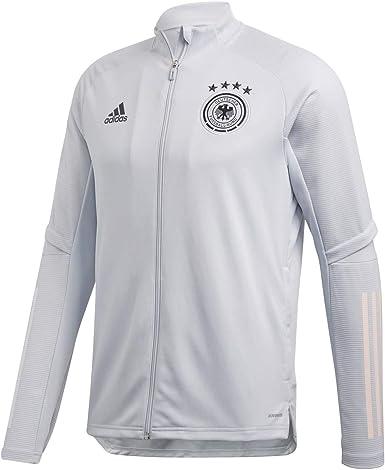 Amazon.com : adidas 2020-2021 Germany Training Jacket (Grey ...