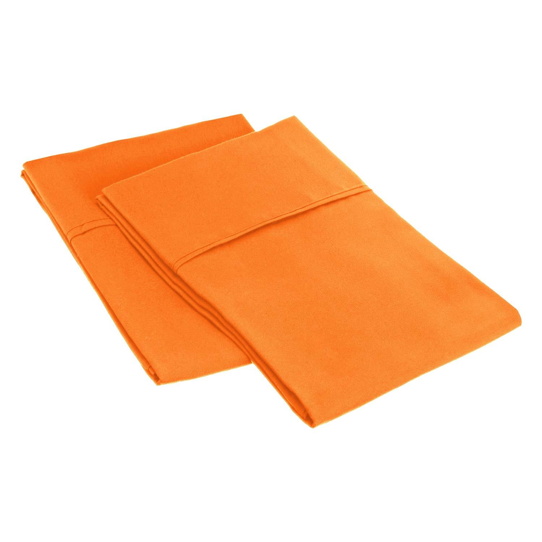 Black Microfiber King Pillowcase Set Solid