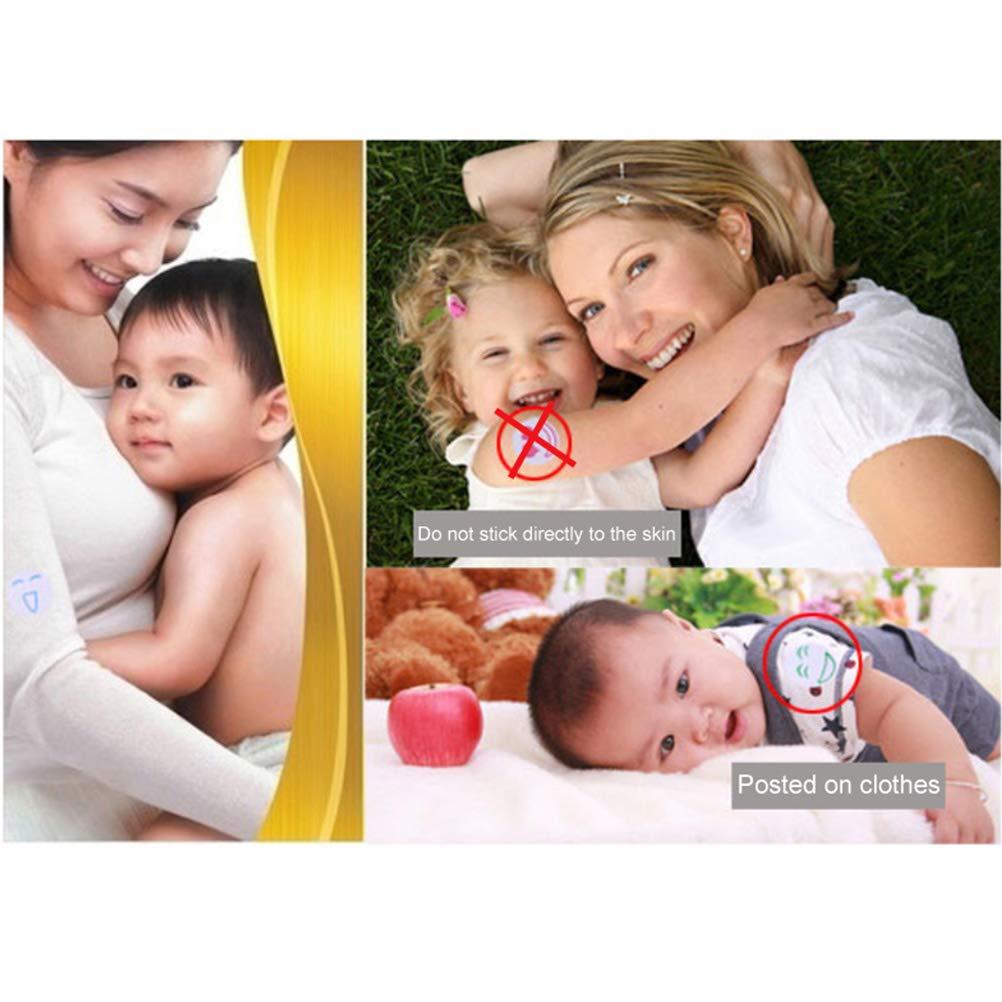 50 Pezzi Adesivi per zanzariere con zanzariere e Smileys attaccanti su Vestiti Anti zanzara per Bambini Repellente per Ambienti Esterni e Interni Bweele Set di Adesivi Repellente per zanzare