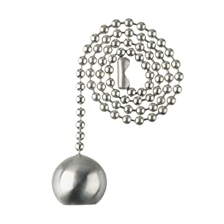 """Westinghouse Lighting 77217 Decorative Pull Chain 12"""" Brushed Nickel"""