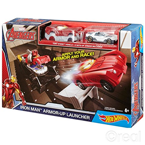Hot Wheels Marvel Avengers Iron Man Armor-Up - Uk Store Ironman