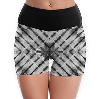 44a38eb0b89f9 Image Unavailable. Image not available for. Color: SYAyeah Grey Tie Dye  Women Workout Yoga Shorts Tight ...