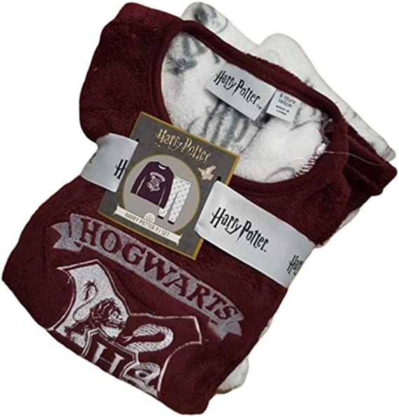 PRIMARK HARRY POTTER PJ Quidditch HOGWARTS Pyjamas Burgundy UK Sizes 4-20 NEW