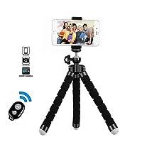BaoLuo Trépied Phone, Trépied Flexible pour Smartphone, Portable avec Télécommande Bluetooth, Adaptateur Téléphone pour iPhone, Samsung, Smartphone, Caméra, Gopro