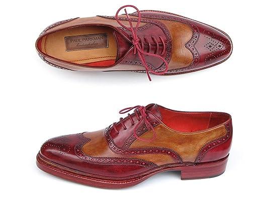 Paul Parkman - Zapatos de cordones para hombre Brown & Camel Dmm8uHL