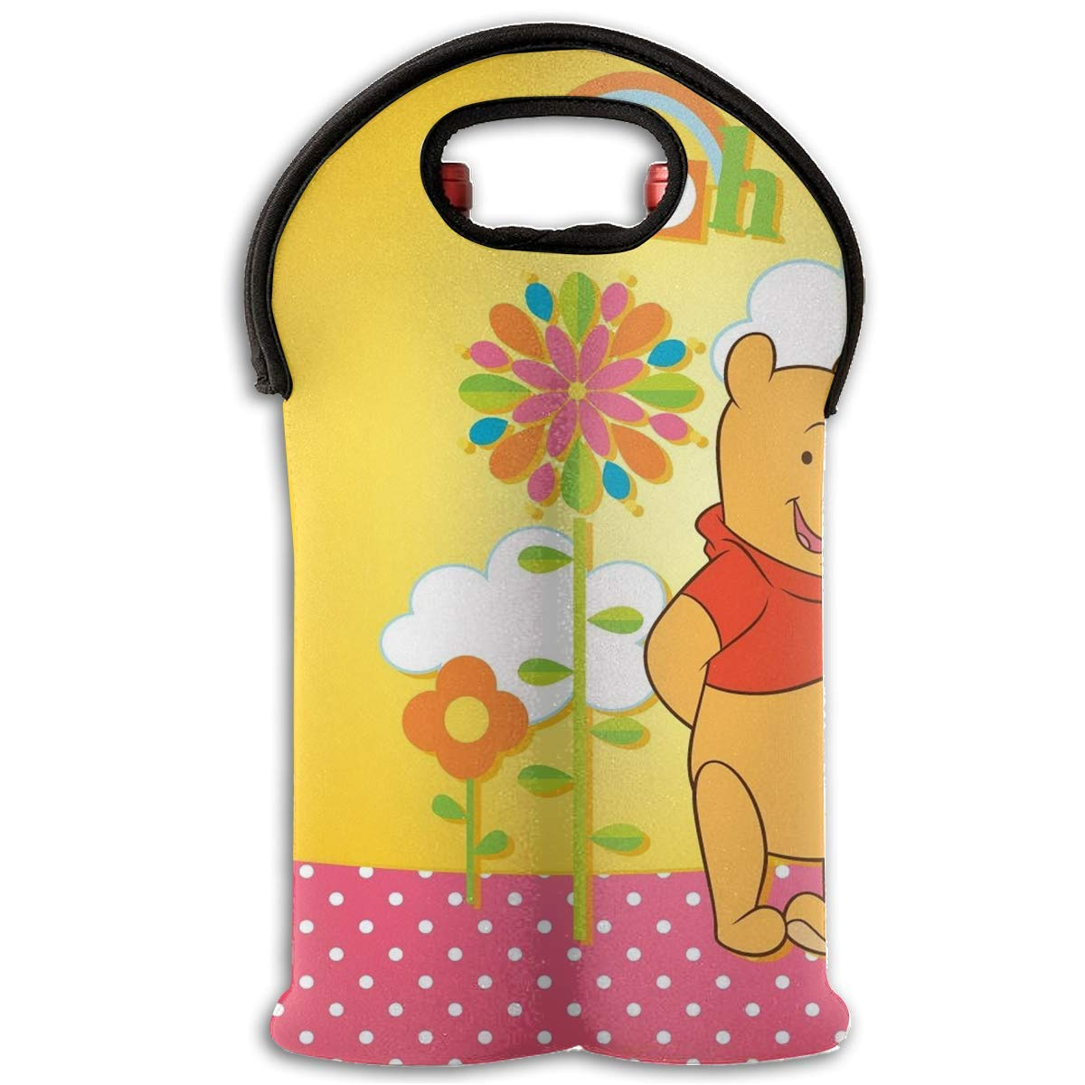 2-Bottle Little Mickey and Minnie Durable Neoprene Wine//Water Bottle Tote Wine Carrier Tote Bag