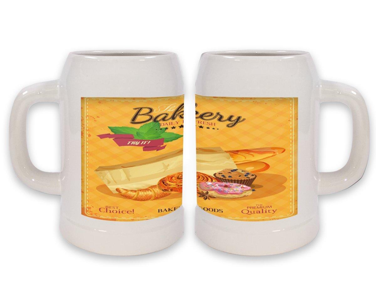 Jarra de Cerveza Taller Oficina Panadería impreso