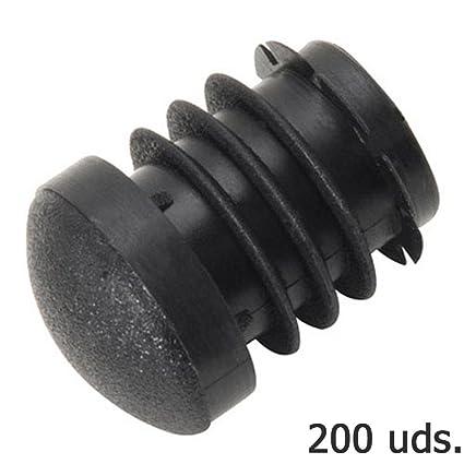 Wolfpack 5330376 Pack de 200 conteras redondas para interior (plástico, 22 mm) color negro
