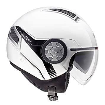 GIVI H111BB91058 Hps 11.1 Air Deni Jet Casco, Color Blanco, Talla 58/M