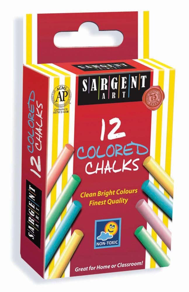 Sargent Art 66-3010 12-Count Colored Chalk