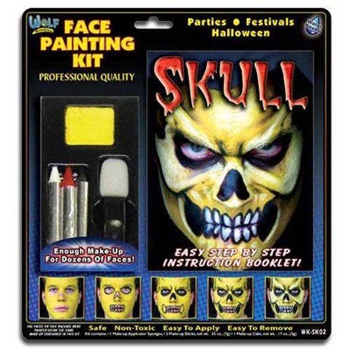 Wolfe Skull Face Painting Kit 2