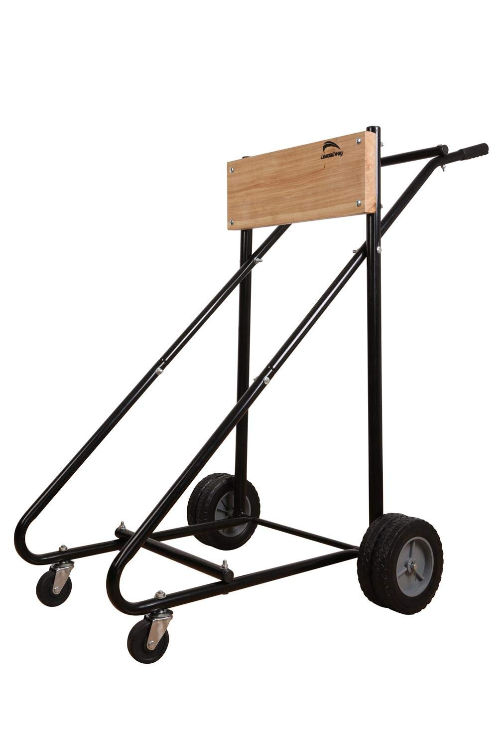 LEADALLWAY Outboard Boat Motor Carrier-315LBS Motor Cart with 4 Rubber Casters and Storage by LEADALLWAY