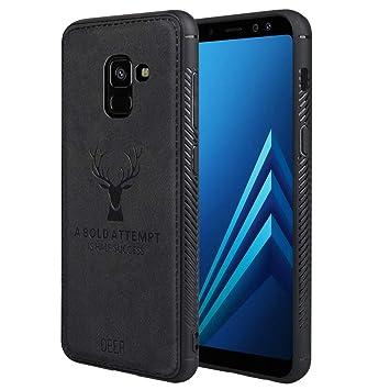 JiatuA Fundas para Samsung A8 2018, Carcasa Movil Samsung Galaxy A8 2018 Funda Blanda a Prueba de Golpes Funda de TPU Carcasa para Teléfono ...