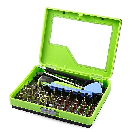 Muzee Juego de herramientas de destornillador de precisión Juego de herramientas de reparación Torx Cross y ranura para PC Notebook Smartphone y ...