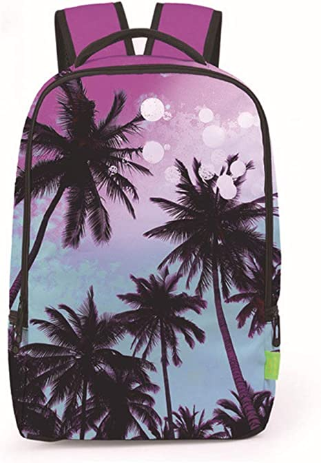 SHKY Mochilas Escolares - Crazy 3D Coconut Trees Landscape Popular ...