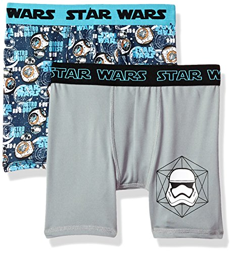 Star Wars Boys' Episode 8 2pk Athletic Boxer Briefs, Asst, 10 - Boys Star Wars Episode