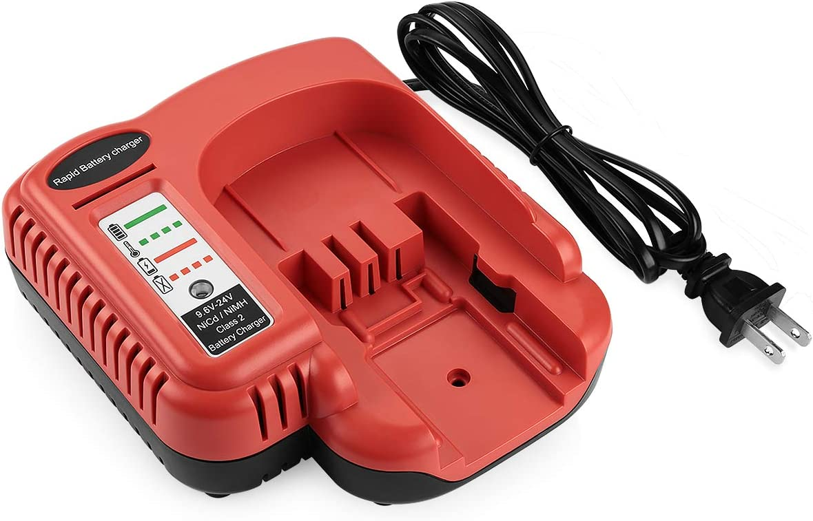 Yabelle 9.6V-18V-24V Black Decker 18V Battery Charger for Black and Decker FSMVC BDCCN24 BDFC240 Charger, for Black & Decker 18V 14.4V 12V 9.6V 24V NiCD&NiMH Battery HPB18 HPB14 HPB12 HPB24