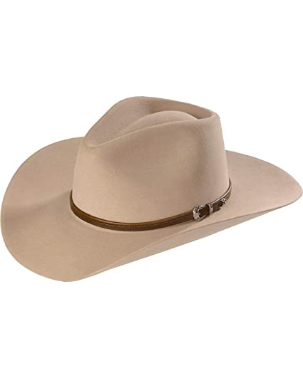 Stetson Men s 4X Buffalo Felt Seneca Pinch Front Western Hat Silver Sand 6 3  4 79e098d5435d