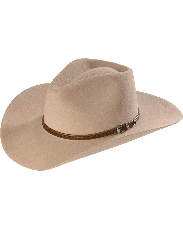Stetson Men's 4X Buffalo Felt Seneca Pinch Front Western Hat Silver Sand 7 1/8