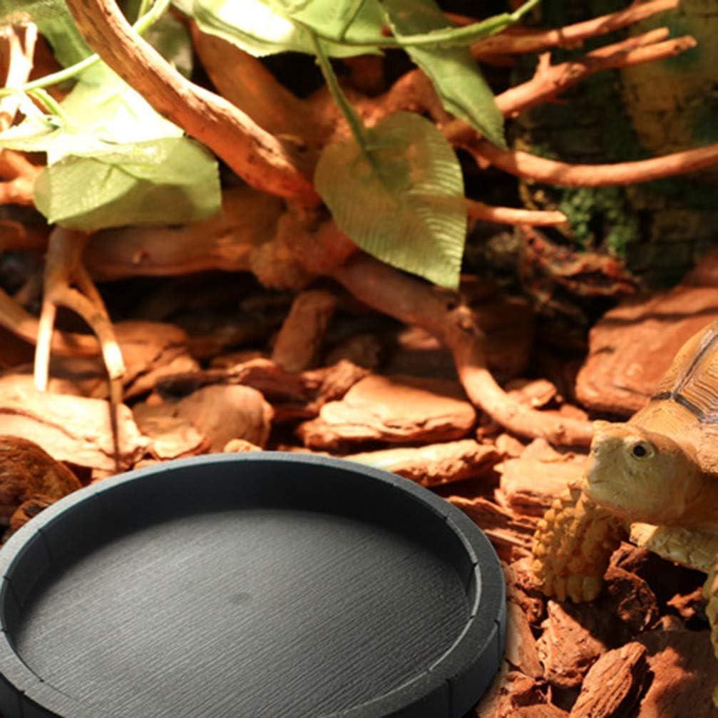 POPETPOP 2Pcs Comedero de Terrario Alimentador de Reptiles Platillo de Reptiles Poco Profundo de Pl/ástico para Comida Y Agua Plato de Alimentaci/ón para Serpiente Lagarto Gecko Tortuga Drag/ón Barbudo