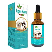 Tapee Paws Hemp Oil for Dogs and Cats 250 mg - Pain Relief, Calming, Fights Cancer, Remedies - Arthritis, Stress, Seizures, Separation Anxiety, Itching & Skin Allergies (Natural, 250mg 1oz)