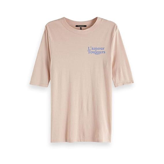 7843e4afaae93 Maison Scotch Damen T-Shirt Short Sleeve 150162: Amazon.de: Bekleidung