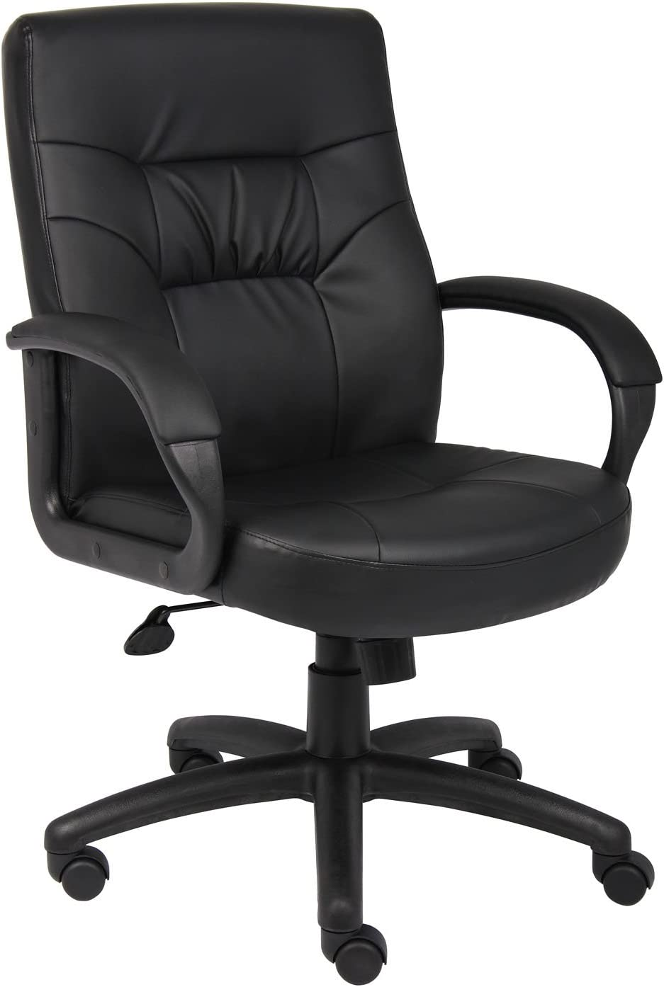 Boss Office Products Executive Mid Back LeatherPlus Chair