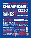 Chicago Cubs - History Collage, 2016 World Series Champions! 8x10 Photo Picture