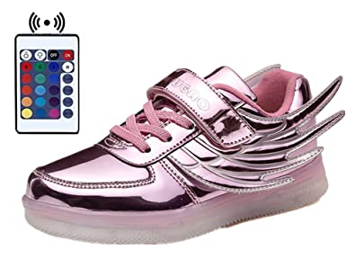 b0a2d4e182d1 Kids Light Up Shoes with Remote Control Flashing Sneakers Led Wings Shoes  for Christmas for Boys
