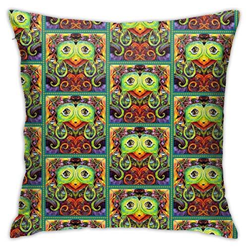 Mango Mandy Bird in Orange and Green Pillow Cover 18