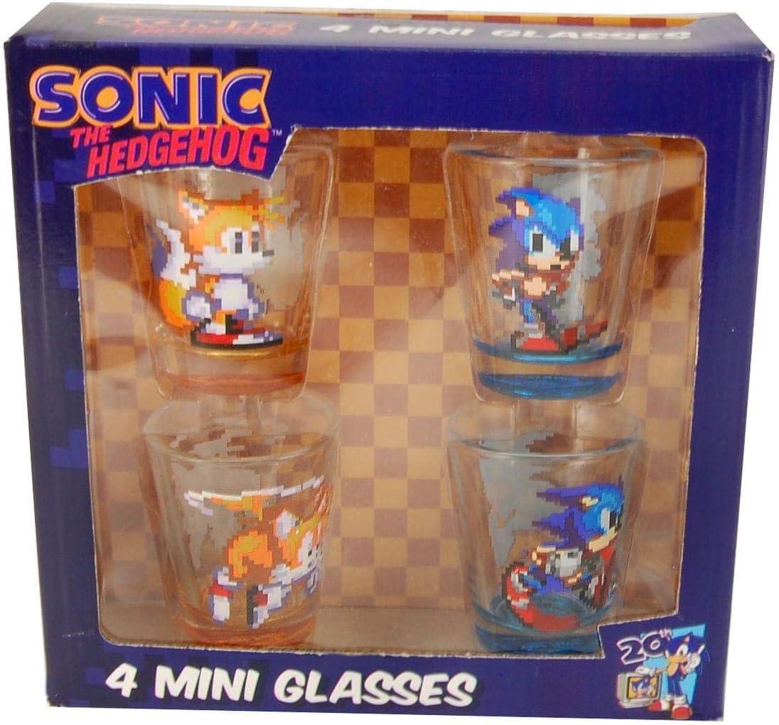 Amazon Com Sonic The Hedgehog Shot Glass Set Of 4 Toys Games