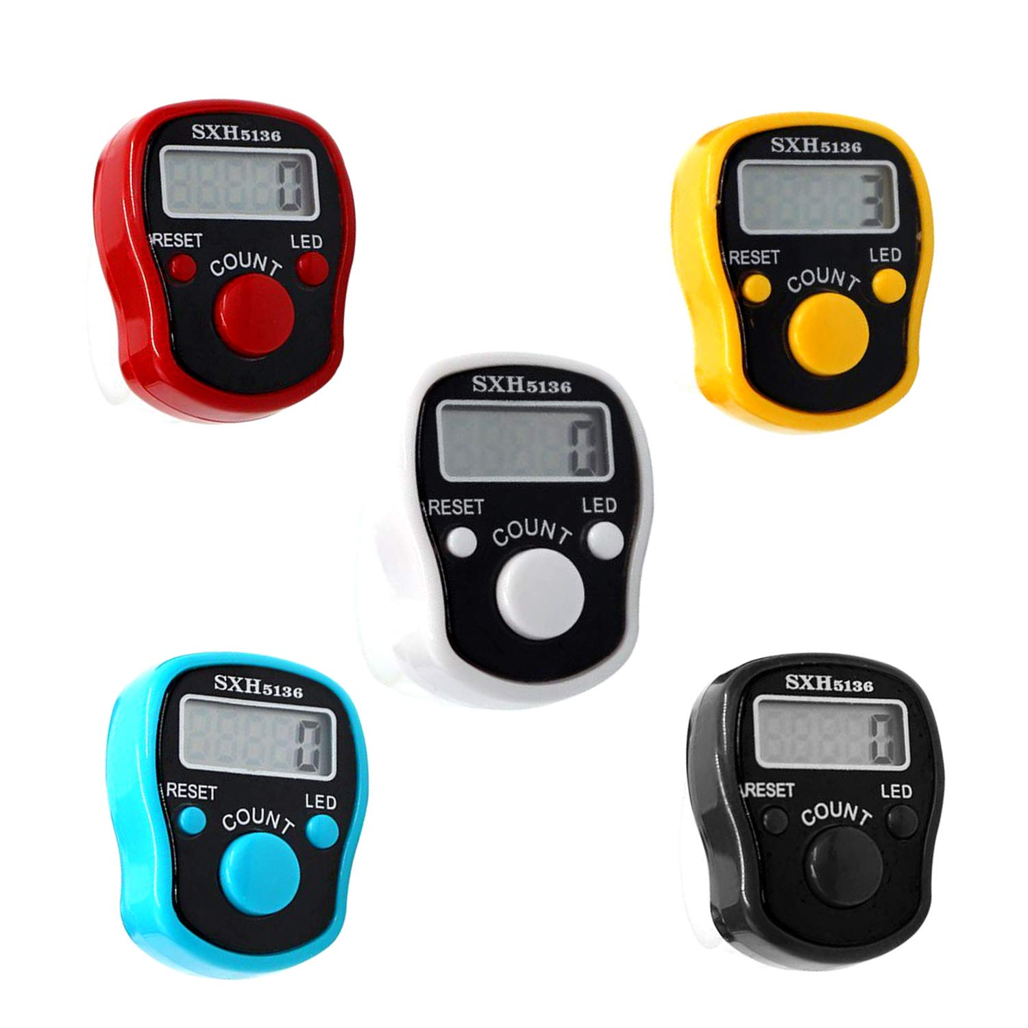 Portable Electronic Counter Meter LCD Screen Tally Counter Finger Ring Clicker