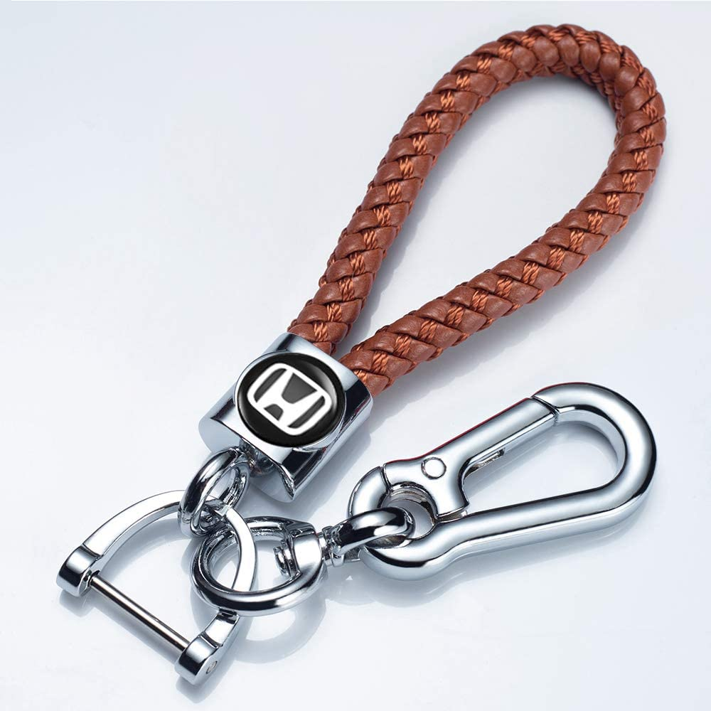 longzheyu Genuine Leather Car Keychain Prefect Suit for Key Chain Keyring Family Present for Man and Woman