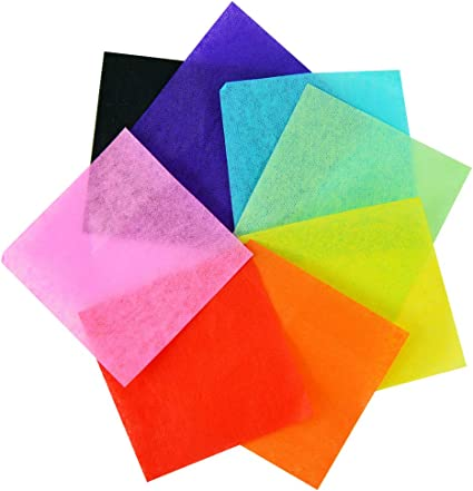 Tissue Paper 2 inch Exquiss 2400 Pcs 24 Colors 2 x 2 inch Tissue Paper Squares for Art Craft Scrunch Art Kids Craft DIY Craft
