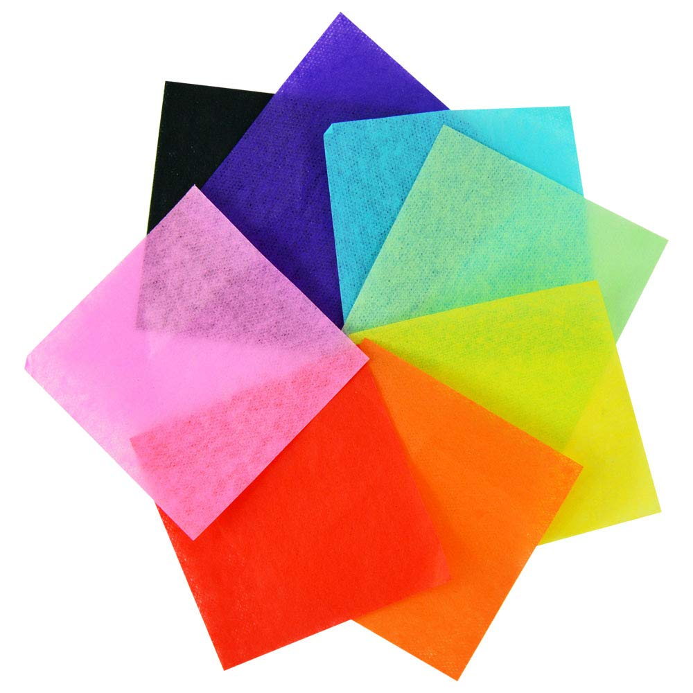 Pack of 2,000 1.5 Tissue Paper Squares for Crafting in Assorted Colors