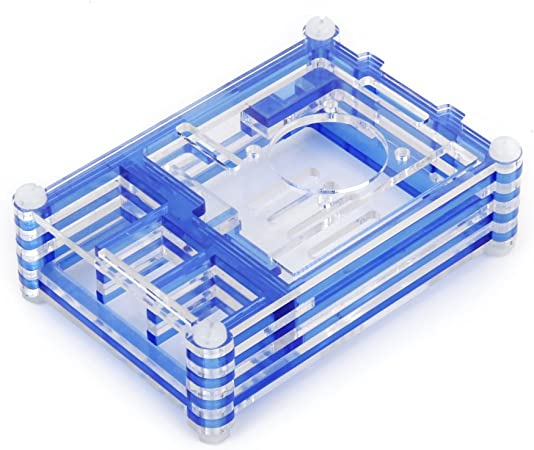 Azul Clara Carcasa Caja de Acrílico para Raspberry Pi B y Raspberry Pi 2: Amazon.es: Hogar
