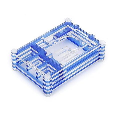 Azul Clara Carcasa Caja de Acrílico para Raspberry Pi B y Raspberry Pi 2