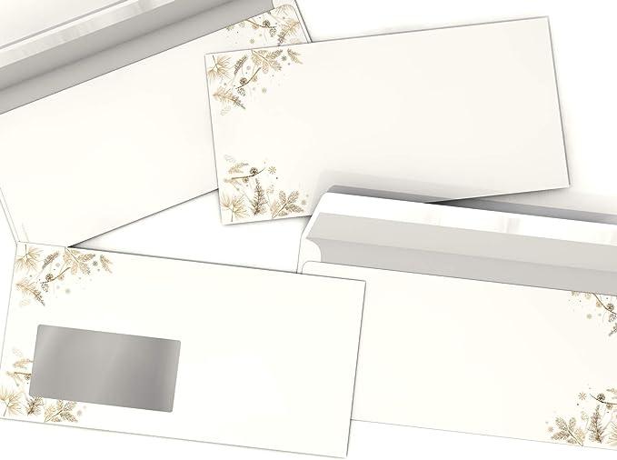 20 Blatt A4 und 20 Briefumschl/äge ohne Fenster Weihnachts-Briefpapier Set S/ü/ßer Schneemann beidseitig bedruckt