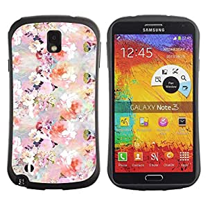 Paccase / Suave TPU GEL Caso Carcasa de Protección Funda para - Flowers Blossoms White Pink Wallpaper - Samsung Note 3 N9000 N9002 N9005
