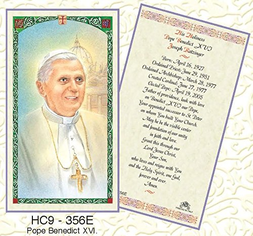 (Pope Benedict XVI Laminated Prayer Cards - Pack of 25 - HC9-356E)