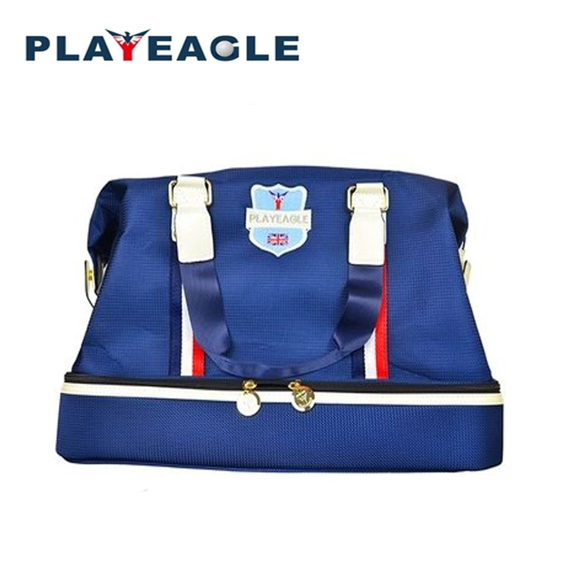 PLAYEAGLE Men's Golf Clothing Bag Waterproof Nylon Golf Boston Bag Long Strap/Hand-holding Travel Bags for Women with Shoe Pocket for Outdoor Sports