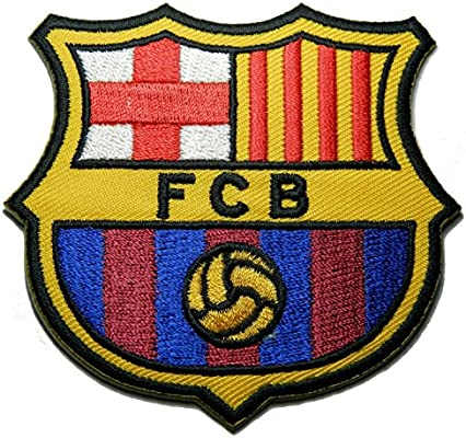 Amazon Com 1 X Fc Barcelona Futbol Football Soccer Iron On Embroidered Patch Emblem Logo Badge Applique By Luk99 Arts Crafts Sewing