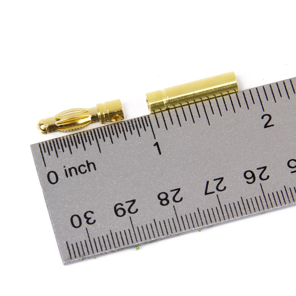 20 Paar 4mm vergoldete Bananenstecker Motor Elektronische Stecker