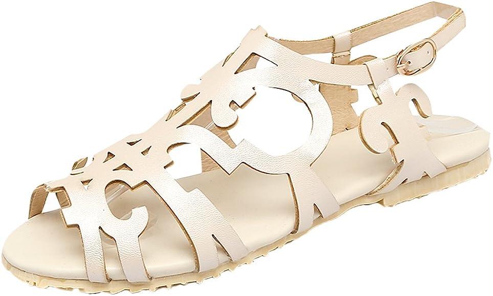 Chic Peep-Toe Slingback Flats Sandals