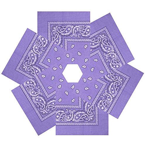 Alotpower Cute Bandana Multifuctional Handkerchiefs(6 Pack Light