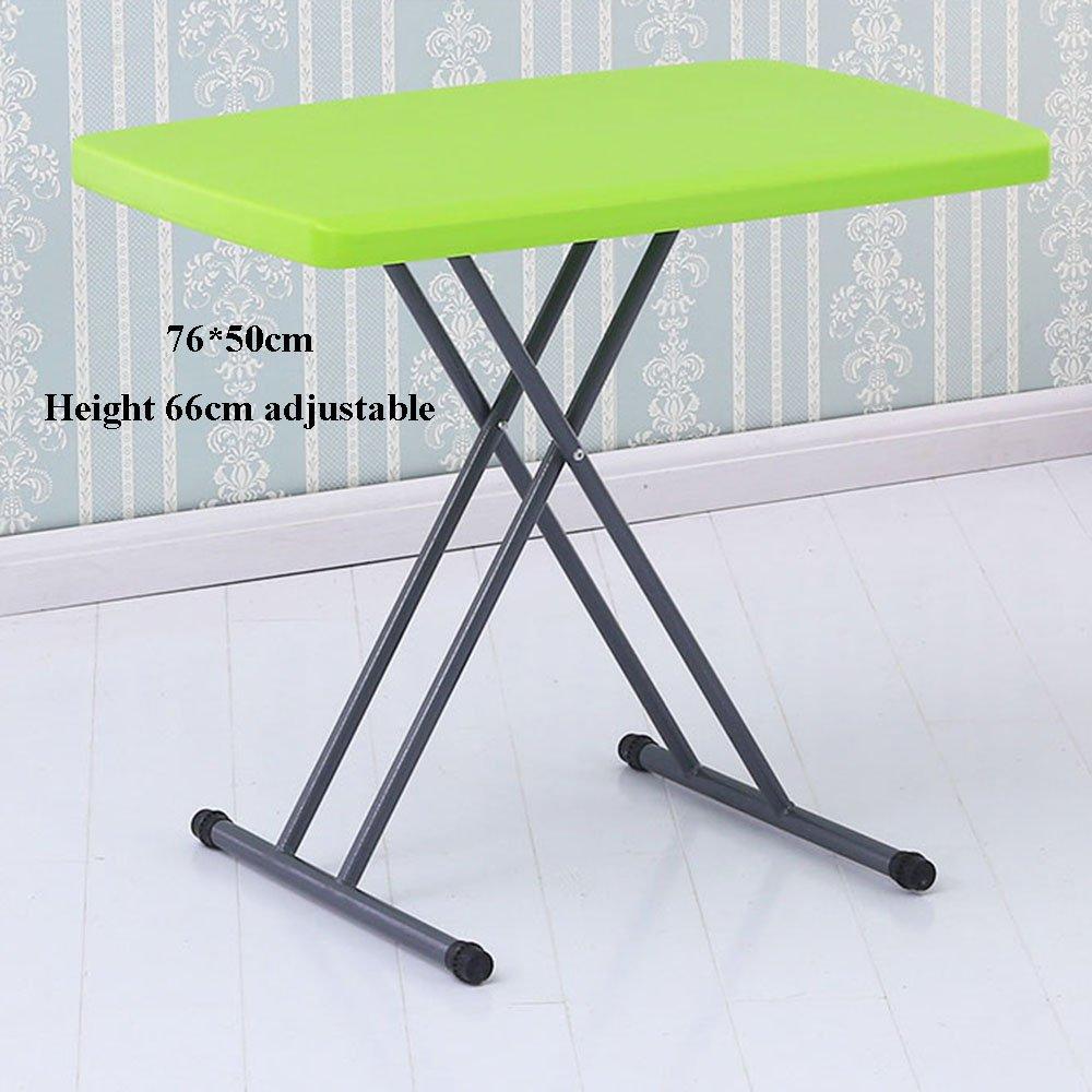 XIA 折り畳みテーブル コンピュータデスク折り畳みテーブルベッドテーブル学習デスクデスク学生テーブルエンターテイメントゲーム小さなテーブルの高さ調節テーブルリフト機能ブルーダークグリーングレーグリーンオレンジホワイトイエロー76 * 50センチメートル ( 色 : 緑 ) B07BV4RN38 緑 緑