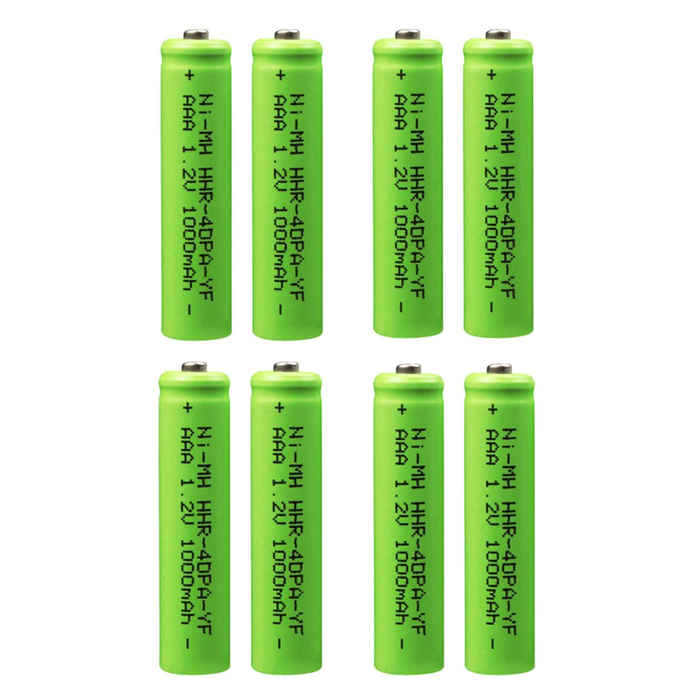 AAA Battery for Panasonic, 1000mAh HHR-4DPA Replacement Battery for Panasonic, 1.2V Ni-MH Rechargeable Cordless Phone Battery, Pack of 8