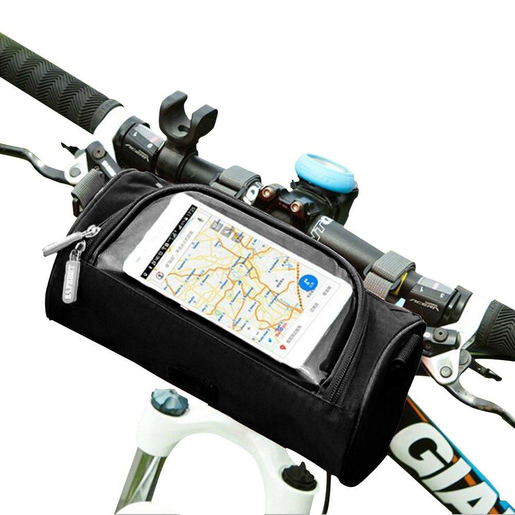 Yuccer ハンドルバーバッグ 防水 携帯電話 タッチスクリーン バイク フロントバッグ 透明なPVCポーチと取り外し可能なショルダーストラップ付き  スタイル1 B07CYZ3MP2